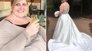 Samantha 3 beden küçük gelinliğe sığabilmek için 25 kilo verdi