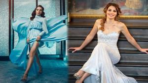 Nur Fettahoğlu'nun göbek dekolteli elbisesi olay oldu