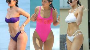 Kylie Jenner'ın tanga bikinisi yürek hoplattı