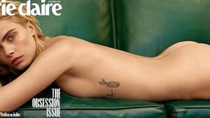 Cara Delevingne Marie Claire dergisi için çıplak poz verdi