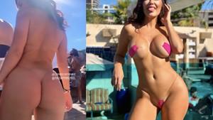 Playboy modeli CJ Sparxx dünyanın en açık bikinisini giydi