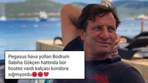 Kaya Çilingiroğlu hostesin kalçasıyla ilgili tweet attı, tepki yağdı!
