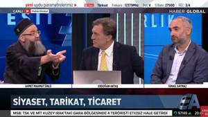 Cübbeli Ahmet'in canlı yayında şekeri fırladı