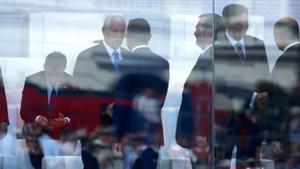 Fuat Oktay ABD Başkan Yardımcısı Pence ile görüştü