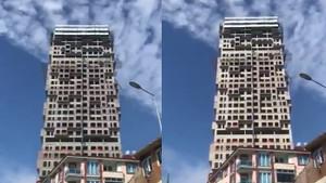 İstanbul'daki deprem binaları böyle salladı