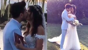 Deniz Baysal ile Barış Yurtçu Çeşme'de evlendi!