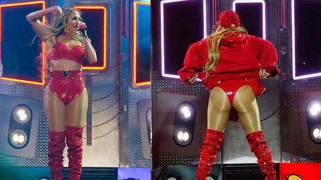 Jennifer Lopez kırmızı elbisesiyle yaktı