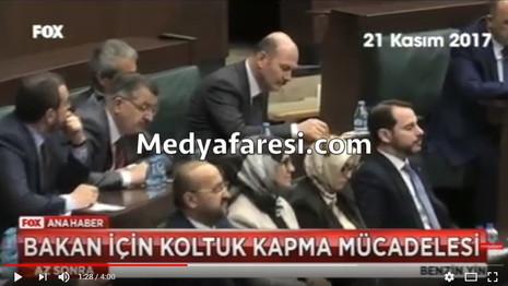 AKP grup toplantısında koltuk kapma yarışı