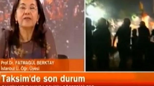 Taksim De Kanal Canlı Yayınına Müdahale