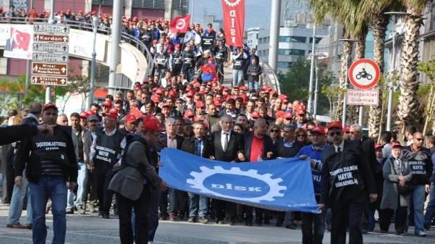 15 bin işçi Taşeronluk sistemine karşı yürüdü!