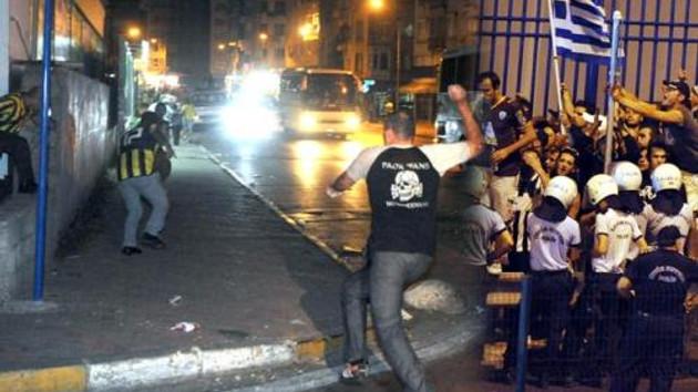 Kadıköy'de çirkin saldırı! PAOK maçı öncesinde silahlar patladı!