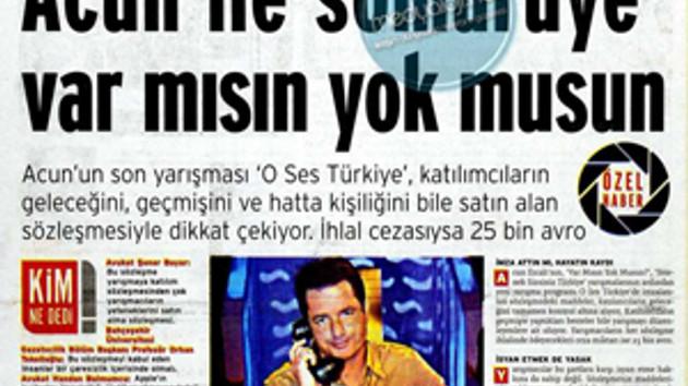 O Ses Türkiye'ye sömürü eleştirisi! Sözleşmede şok maddeler!