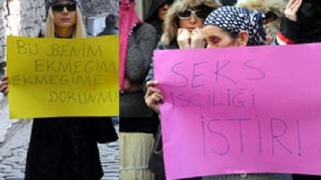 Hayat kadınları Zürafa Sokak'ta eylem yaptı!