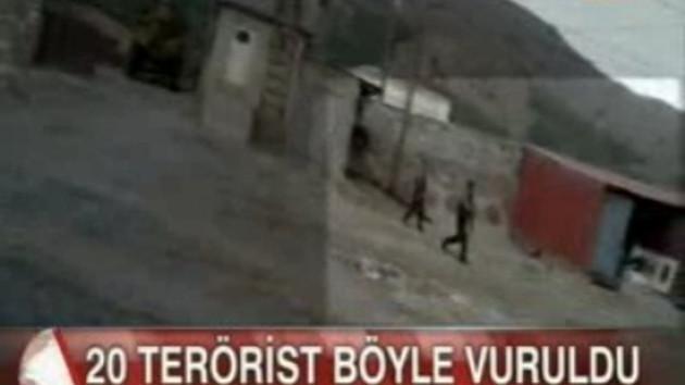20 PKK'lının öldürüldüğü çatışma kamerada! İşte o görüntüler!