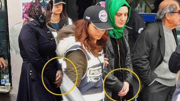 Başörtülü kadınlara kelepçeye Davutoğlu el koydu