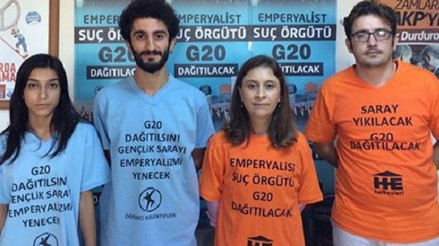 G 20 Zirvesi'ne mektup götüren öğrencilere gözaltı