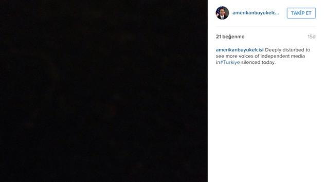 ABD Büyükelçiliği Instagram'ını kararttı!