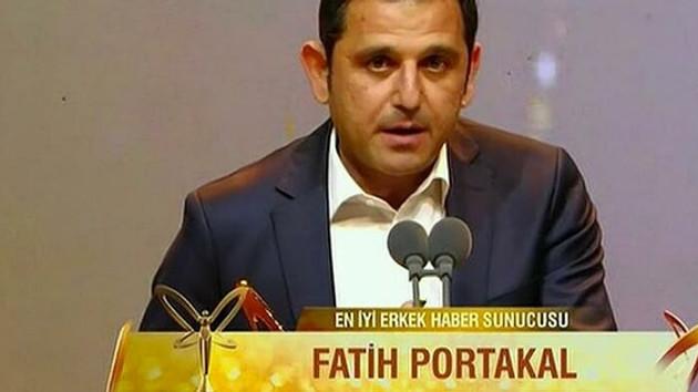 Fatih Portakal Altın Kelebek'i salladı: Bu ödülü işini adam gibi yapan gazeteciler için alıyorum