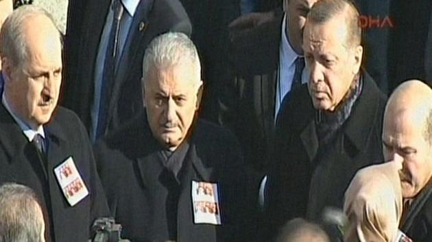 Erdoğan Şehit polislerin cenaze töreninde