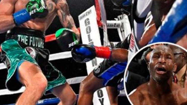 Bir yumrukla ringden düşen boksör boksu bıraktı - İZLE
