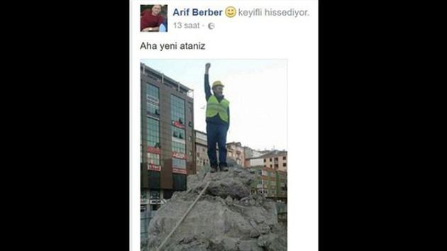 Rize'de yeni skandal, 'aha yeni Atanız' paylaşımı!