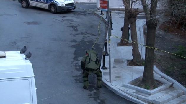 Beyaz TV binası önünde bomba paniği