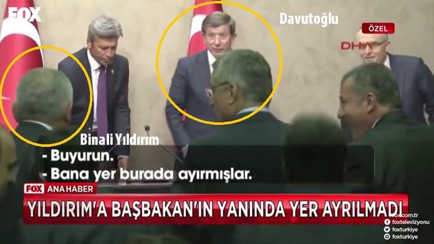 Binali Yıldırım'a Başbakan'ın yanında koltuk ayrılmadı!