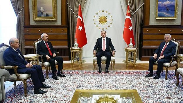 Kılıçdaroğlu ve Bahçeli ilk kez Saray'da!
