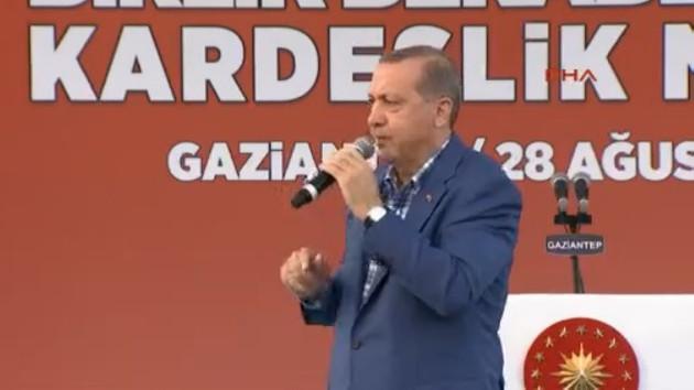 Erdoğan Gaziantep'te konuştu