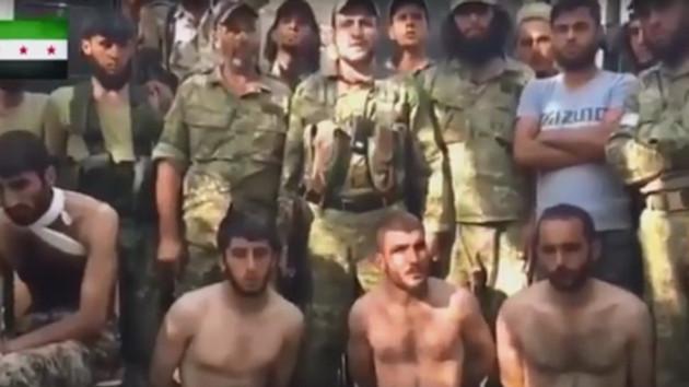 İşte ÖSO güçlerince rehin alınan YPG'liler
