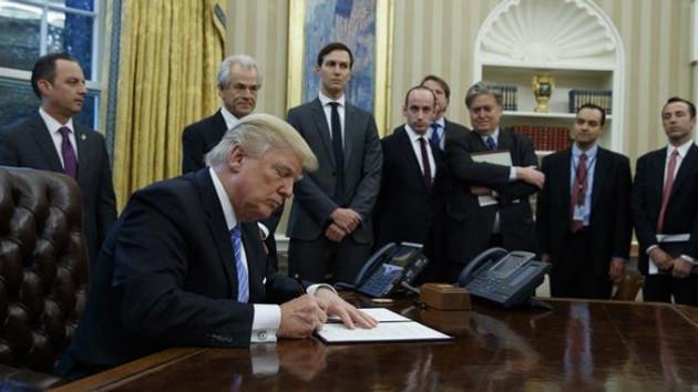 Donald Trump imzaladı! ABD resmen çekildi