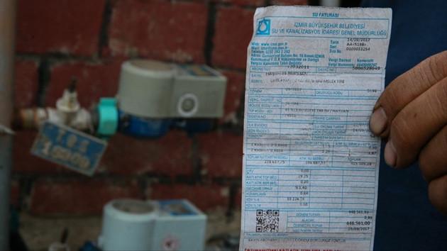 İzmirli vatandaşa 448 bin 561 liralık su faturası şoku