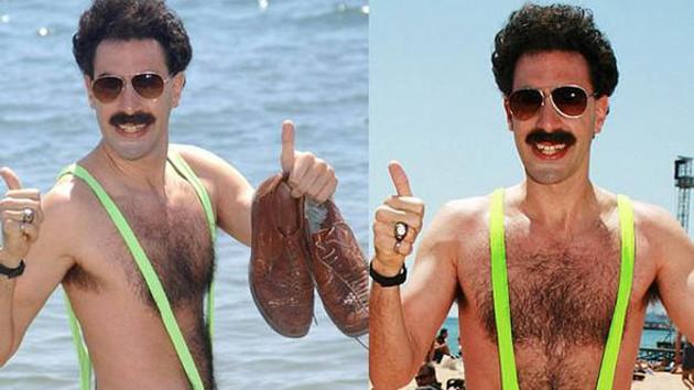 Borat'ın mayolarından giyen turiste gözaltı
