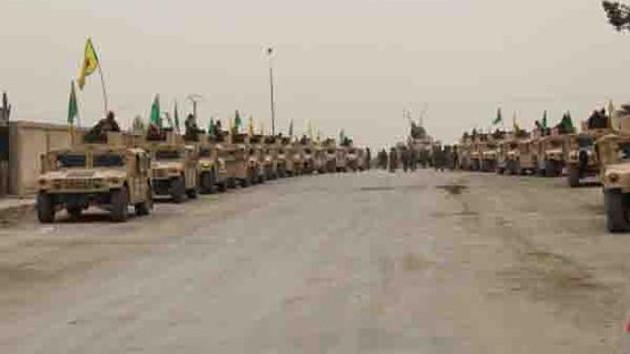 Terör örgütü PKK ABD'nin verdiği silahlarla şov yaptı