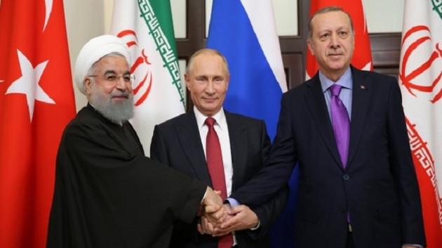 Erdoğan, Putin ve Ruhani'nin kritik görüşmesi sona erdi
