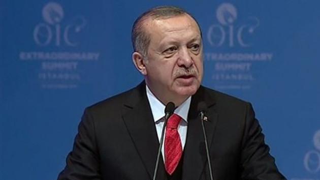 Erdoğan: Dünya Kudüs'ü Filistin'in başkenti olarak tanısın