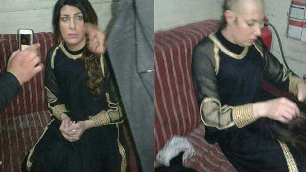 Kadın kıyafetiyle dolaşan terörist yakalandı