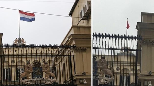 Hollanda'nın İstanbul Başkonsolosu: Bayrağı görevli indirmedi, diplomatik toprağa saldırıdır