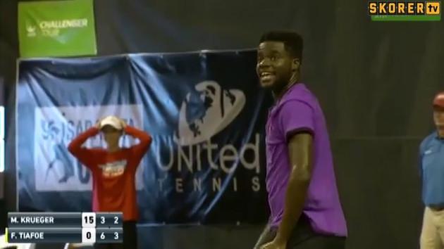 Tenis maçı sırasında sevişen çiftin gürültüsü canlı yayında duyuldu