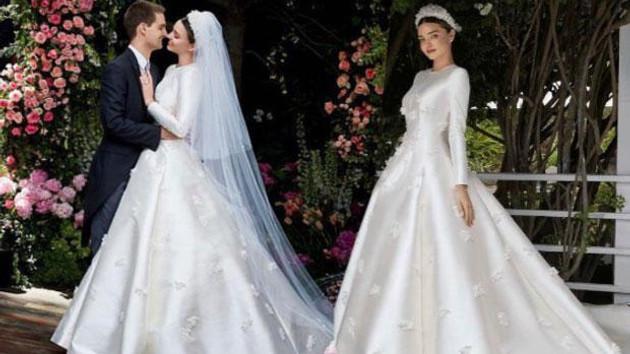 Snapchat'in Ceo'su ile evlenen Miranda Kerr'in gelinliği olay oldu
