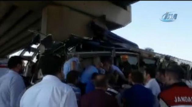 Son dakika... Ankara'da otobüs kazası... 5 ölü, çok sayıda yaralı
