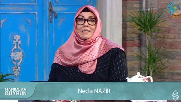 Necla Nazır Menzil tarikatının kanalında program yapıyor