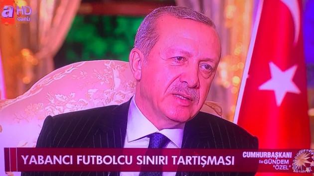 Erdoğan yabancı futbolcu sayısı tartışmalarına noktayı koydu