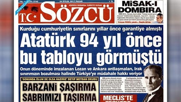 Sözcü gazetesi: Atatürk 94 yıl önce bu tabloyu görmüştü