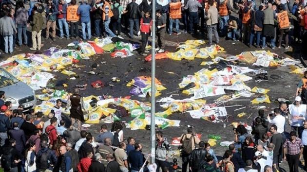 10 Ekim Katliamı'ndan yeni görüntüler: Saldırganlar polis aramasından geçmiyor