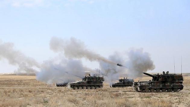 Afrin'de PKK/PYD'nin sığınakları vuruldu