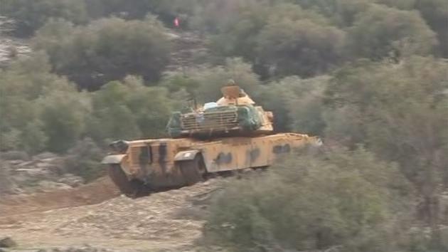 Son dakika: Türk tankları Afrin'de hedefleri vuruyor