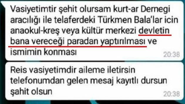 Şehit Astsubay Üstçavuş Musa Özalkan'ın vasiyeti yürekleri yaktı