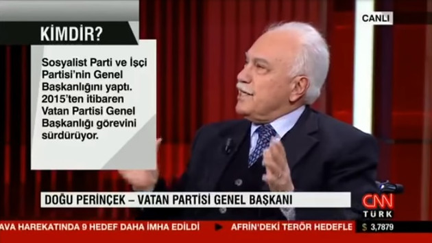 Perinçek: Türk Ordusu marangoz, ÖSO testeredir