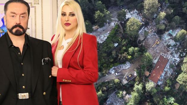Adnan Oktar'ın lüks villasından geriye sadece enkaz kaldı